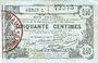 Banknotes Aisne, Ardennes et Marne - Bon régional. Laon. Billet. 50 cmes 16.6.1916, série 2