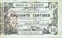 Banknotes Aisne, Ardennes et Marne - Bon régional. Laon. Billet. 50 cmes 16.6.1916, série 49