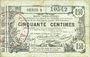 Banknotes Aisne, Ardennes et Marne - Bon régional. Laon. Billet. 50 cmes 16.6.1916, série 8