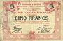 Banknotes Aniche (59). Commune. Billet. 5 francs 1916, série 3