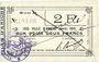 Banknotes Aniche (59). Ville. Billet. 2 francs 1915, série D