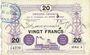 Banknotes Anzin (59). Compagnie des Mines. Billet. 20 francs 1915, série 4