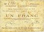 Banknotes Aubigny-au-Bac (59). Commune. Billet. 1 franc 2.12.1914