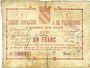 Banknotes Avesnes (59). Caisse d'Epargne et Prévoyance. Billet. 1 franc, série 2