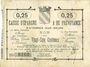 Banknotes Avesnes (59). Caisse d'Epargne et Prévoyance. Billet. 25 cmes n. d.