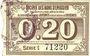Banknotes Avesnes (59). Société des Bons d'Emission. Billet. 20 cmes n. d., série 1