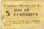 Banknotes Avesnes-le-Sec (59). Commune. Billet. 5 cmes n. d.