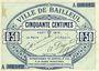 Banknotes Bailleul (59). Ville. Billet. 50 cmes août 1914