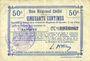 Banknotes Banteux (59). Commune. Billet. B.R.U., 50 cmes