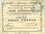 Banknotes Baralle (62). Commune. Billet. 2 francs 26.2.1915