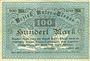 Banknotes Bas-Rhin (67). Bezirk Unter-Elsass. Billet. 100 mark Strasbourg, 25.10.1918