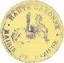 Banknotes Baziège (31). Mairie. Billet. 10 centimes