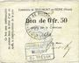 Banknotes Beaumont-en-Beine (02). Commune. Billet. 50 cmes n. d.