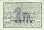 Banknotes Bellenglise (02). Commune. Billet. S.Q.G., 1 franc  8.8.1916