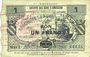 Banknotes Berlaimont (59). Société des Bons d'Emission. Billet. 1 franc, série 2