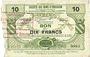 Banknotes Bertry (59). Société des Bons d'Emission. Billet. 10 francs, série 4