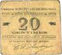 Banknotes Beuvry-Les-Orchies (59). Commune. Billet. 20 cmes 1915
