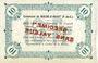 Banknotes Biache-Saint-Waast (62). Commune. Billet. 10 francs SPECIMEN