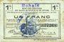 Banknotes Bohain (02). Ville. Billet. S.Q.G., 1 franc 8.8.1916