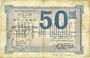 Banknotes Bolbec (76). Ville. Billet. 50 centimes 1916