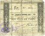 Banknotes Bouvignies (59). Commune. Bon pour 1 franc 1914