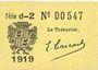 Banknotes Cadillac (33). Syndicat du Commerce. Billet. 25 cmes 1918, série d-2