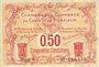 Banknotes Caen et Honfleur (14). Chambres de Commerce. Billet. 50 centimes, série A
