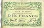 Banknotes Cambrai (59). Syndicat de Communes de la Région de Cambrai. Billet. 10 francs 10.5.1916, série A