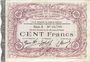 Banknotes Cambrai (59). Syndicat de Communes de la Région de Cambrai. Billet. 100 francs 10.5.1916, série A