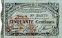 Banknotes Cambrai (59). Syndicat de Communes de la Région de Cambrai. Billet. 50 cmes 10.5.1916, série A