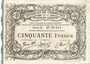 Banknotes Cambrai (59). Syndicat de Communes de la Région de Cambrai. Billet. 50 francs 10.5.1916, série A