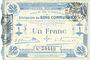 Banknotes Cambrai (59). Ville. Billet. 1 franc 30.10.1914, 1ère série