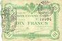 Banknotes Cambrai (59). Ville. Billet. 10 francs 8.1.1916, 1ère série