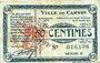 Banknotes Carvin (62). Ville. Billet. 50 cmes 15.1.1915, série C
