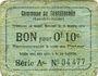 Banknotes Castillonnès (47). Commune. Billet. 10 cmes 8.10.1916, série A