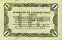 Banknotes Cauroir (59). Commune. Billet. 1 franc 16.12.1915, série A