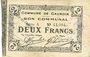 Banknotes Cauroir (59). Commune. Billet. 2 francs 16.12.1915, série A