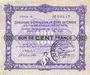 Banknotes Charleville et Mézières (08). Syndicat d'Emission de  Bons de Caisse. 100 francs 11.3.1916, série A