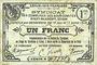 Banknotes Cirey-Blamont, Xures (54). Syndicat des Communes des sous-comités. Billet. 1 franc 10.6 et 17.7.1916