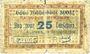 Banknotes Cluses (74). Anciens Etablissements Rannaz. Billet. 25 cmes 10.8.1916