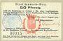 Banknotes Colmar (68). Stadtkassen - Bon. Billet. 50 pf 6.8.1914, cachet d'annulation Entwertet au dos