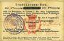 Banknotes Colmar (68). Stadtkassen - Bon. Billet. 50 pf 6.8.1914 surchargé Ausgabe 1917