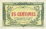 Banknotes Cornimont (88). Commune. Billet. 25 cmes 6.11.1917, série B