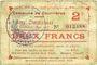 Banknotes Courrières (62). Commune. Billet. 2 francs, émission mai 1915