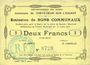 Banknotes Crèvecoeur-sur-l'Escaut (59). Commune. Billet. 2 francs du 15.7.1915