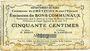 Banknotes Crèvecoeur-sur-l'Escaut (59). Commune. Billet. 50 centimes du 22.8.1915