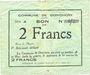 Banknotes Donchery (08). Commune. Billet. 2 francs 11.8.1915