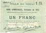 Banknotes Douai (59). Ville. Billet. 1 franc 30.8.1914, série B5