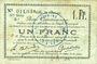 Banknotes Douai (59). Ville. Billet. 1 franc 30.8 et 15.10.1914, nlle série, B1