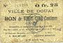 Banknotes Douai (59). Ville. Billet. 25 centimes 6.6.1915